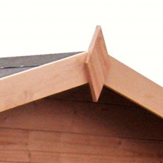 8 x 8 Shire Peckover Log Cabin - Detail of finial