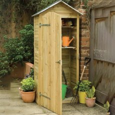 3 x 2 (0.81m x 0.51m) Forest Shiplap Tall Garden Store with Zinc Roof - Pressure Treated