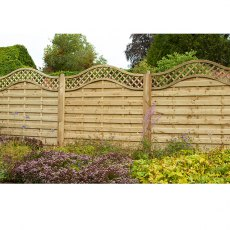 6ft High (1800mm) Forest Europa Prague Fence Panels - Pressure Treated