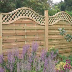 6ft High Forest Prague Fence Panels - Pressure Treated