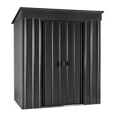 5 x 3 (1.40m x 0.82m ) Lotus Pent Metal Shed in Anthracite Grey