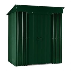 5 x 3 (1.40m x 0.82m ) Lotus Pent Metal Shed in Heritage Green