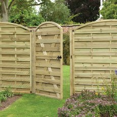 6ft High (1800mm) Forest Europa Curved Gate - Pressure Treated