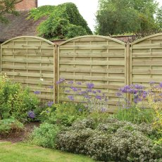 6ft High (1800mm) Forest Europa Domed Fence Panels - Pressure Treated
