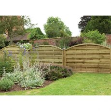 "3ft 7"" High Forest Domed Fence Panels"