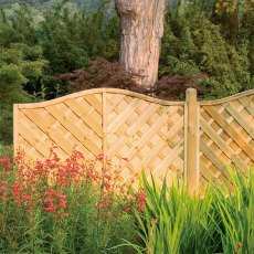 6ft High (1800mm) Forest Europa Strasburg Fence Panels - Pressure Treated