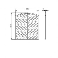 6ft High (1800mm) Forest Europa Bradville Fence Panels - Dimensions