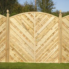 6ft High (1800mm) Forest Europa Bradville Fence Panels