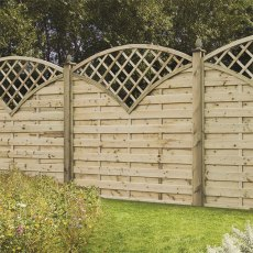 Forest Europa Finedon Screen with horizontal weave, dome top and integral fan trellis
