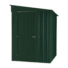 5 x 8 (1.44m x 2.34m) Lotus Lean-To Metal Shed in Heritage Green