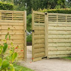 6ft High (1800mm) Forest Europa Kyoto Gate with Matchin Fence Panels