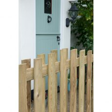 "3ft 7"" High Forest Decorative Hit and Miss Fence Panels"