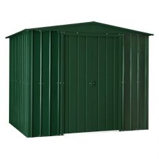 8 x 5 (2.34m x 1.44m) Lotus Apex Metal Shed in Heritage Green