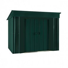 6 x 4 (1.71m x 1.13m ) Lotus Low Pent Metal Shed in Heritage Green