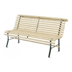 Grange Contemporary Slatted Bench - Isolated View