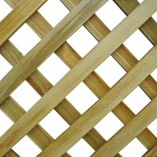 6ft High (1800mm) Forest Rosemore Lattice Trellis - Close up for diamond lattice