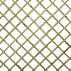 6ft x 6ft Forest Hidcote Lattice Trellis - Close up of diamond lattice