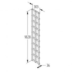 1ft by 6ft (300mm x 1830mm) Forest Heavy Duty Trellis - Dimensions
