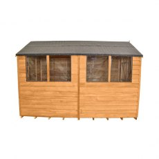 8x10 Forest Overlap Workshop Shed with Double Doors - Side view