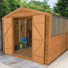 8 x 12 (2.46m x 3.64m) Forest Overlap Workshop Shed - Double Doors