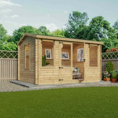 9G x 13 (2.80m x 3.80m) Mercia Bridgeford Log Cabin - 19mm Logs