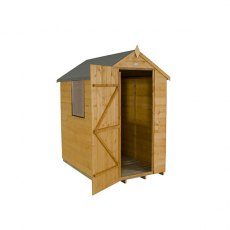 4x6 Forest Shiplap Shed - 3/4 view