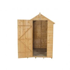 4x6 Forest Shiplap Shed - Front view, door open