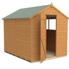 6x8 Forest Shiplap Shed - Front view, door closed