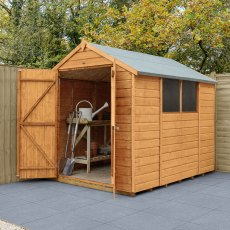 8 x 6 (2.36m x 1.78m) Forest Shiplap Shed - Double Doors