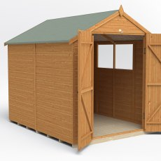 8x6 Forest Shiplap Shed with Double Doors - Front view, doors closed