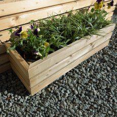 Grange Small Contemporary Rectangular Planter - Pressure Treated