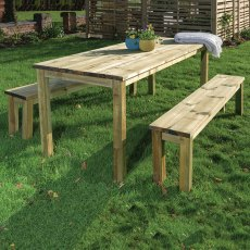 Grange Essential Table and Two Bench Set