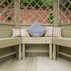 Forest Half Burford Arbour - seating area with cushions