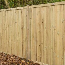6ft High (1800mm) Forest Decibel Noise Reduction Fence Panel - in situ
