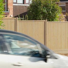 6ft High Forest Decibel Noise Reduction Fence Panel - used to reduce noise from busy road