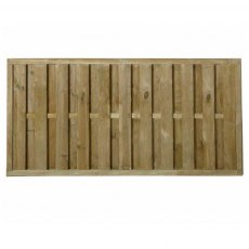 3ft High (900mm) Forest Vertical Hit & Miss Fence Panel - Pressure Treated