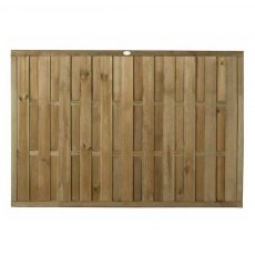 4ft High (1200mm) Forest Vertical Hit & Miss Fence Panel - Pressure Treated