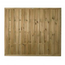 5ft High (1500mm) Forest Vertical Hit & Miss Fence Panel - Pressure Treated