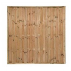 6ft High (1800mm) Forest Vertical Hit & Miss Fence Panel - Pressure Treated