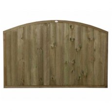 4ft High (1220mm) Forest Domed Top Tongue and Groove Panel - Pressure Treated