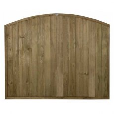 5ft High (1520mm) Forest Domed Top Tongue and Groove Panel - Pressure Treated