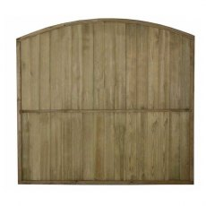 6ft High Forest Domed Top Tongue and Groove Panel - reverse of panel