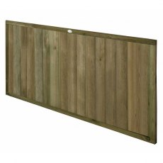 3ft High (910mm) Forest Vertical Tongue and Groove Fence Panel - isolated angled view