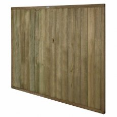 5ft High Forest Vertical Tongue and Groove Fence Panel - isolated angled view