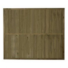 5ft High Forest Vertical Tongue and Groove Fence Panel - back of panel showing bracing