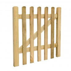 3ft High Forest Pale Gate - Isolated angled view