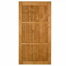 6ft High Forest Featheredge Gate - isolated view of back of gate