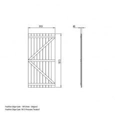 Forest Garden 6ft High (1820mm) Forest Featheredge Gate