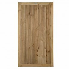 6ft High Forest Pressure Treated Square Lap Gate - Isolated view