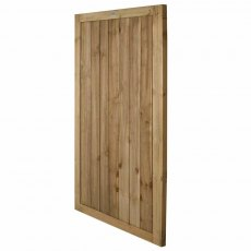 6ft High Forest Pressure Treated Square Lap Gate - Isolated angled view